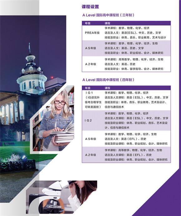 上海光华学院美高课程设置详情